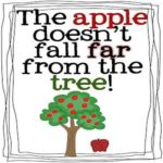 Idiom The apple does not fall far from the tree