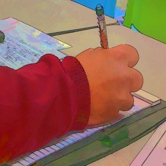 artwork hand-writing-by Linnaea Mallette