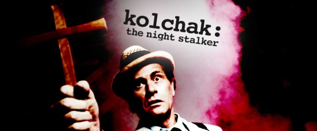 Promo Banner for 70's TV show Kolchak: The Night Stalker