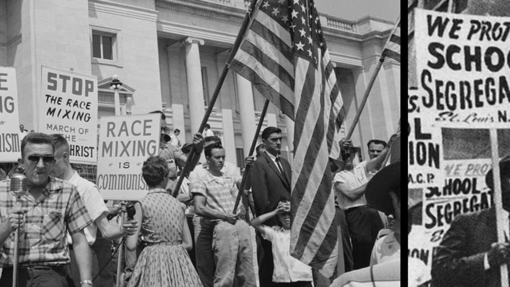 protests segregation and racial mixing 1960's