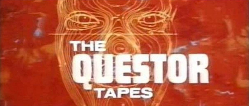 Title screen for 1974 movie The Questor Tapes